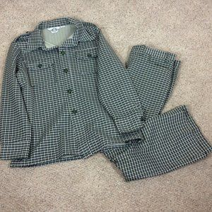 Levi's Panatela Green Houndstooth Leisure Suit